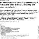 Recommandations FELASA Health_Monitoring_rodents
